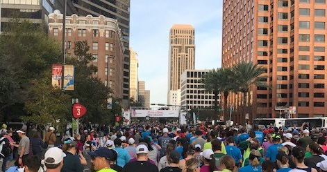New Orlean Rock 'n' Roll Half Marathon Start Line