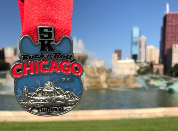 Grant park, buckingham fountain, Rock 'n' Roll 5K,